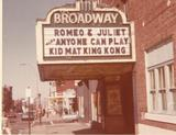 Broadway Theater 1968. Photo courtesy of John Higgins via the Dirty Old Boston Facebook page.
