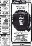 <p>The new Robert Aldrich thriller opens at the beautiful Loew's Theatre. From the Tampa Tribune dated September 12, 1969.</p>