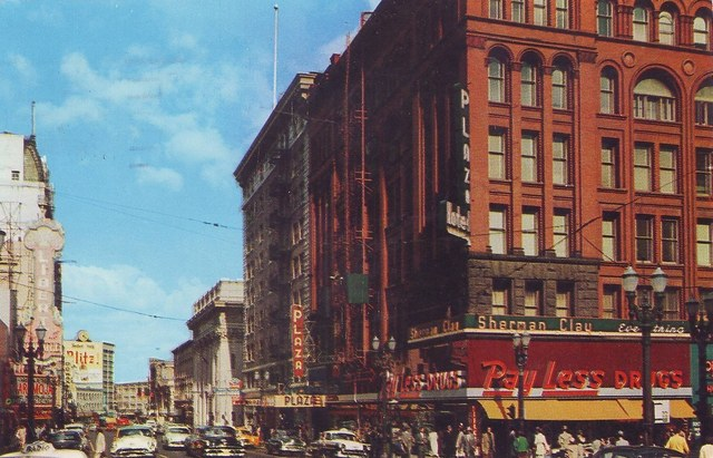 Liberty Theater on the left, nid `50's. Photo courtesy of Lincoln Land Facebook page.