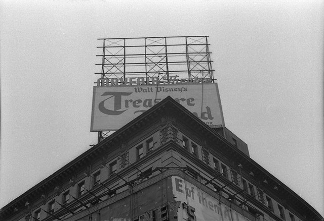 Rooftop billboard 1950. Photo courtesy of Lincoln Land Facebook page.