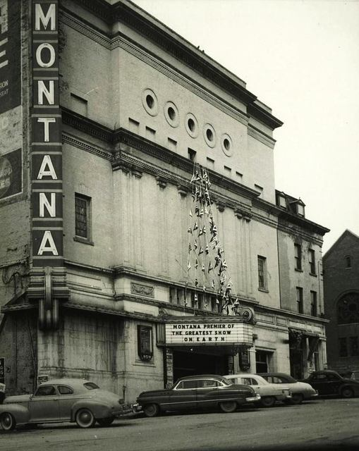Montana Theater 1952. Photo courtesy of Lincoln Land Facebook Page.