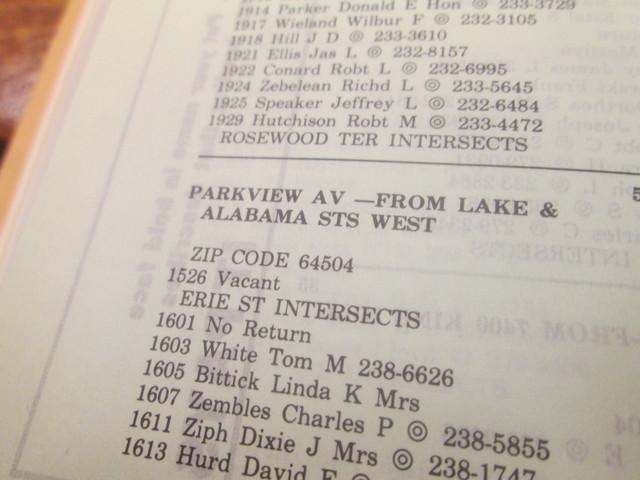 1985 City Directory