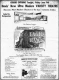 Varsity Theatre Opening Day 1950