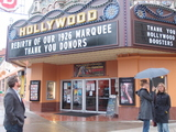 Hollywood Theater Exec Director Doug Whyte with new marquee