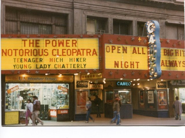The Cameo, with a crazy quadruple feature, 1984