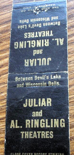 AL. RINGLING Theatre; Baraboo, Wisconsin.