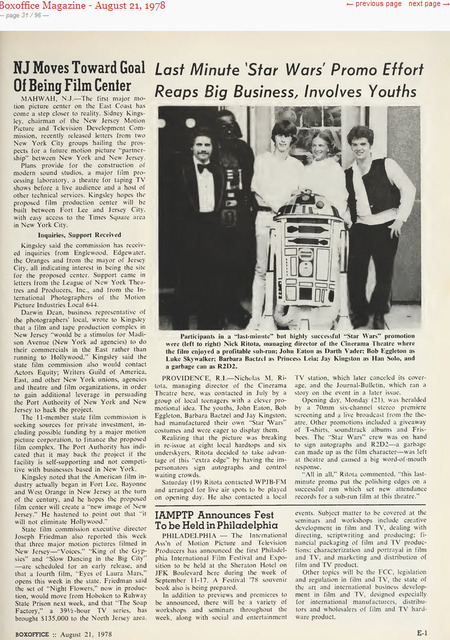 Cinerama Star Wars promotion