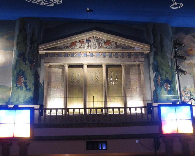 Auditorium sidewall, left