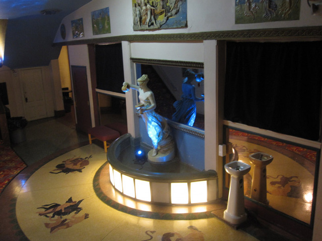 Restored fountain in the foyer