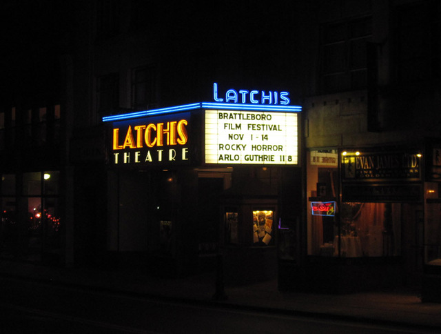 Latchis Theatre - Marquee at night