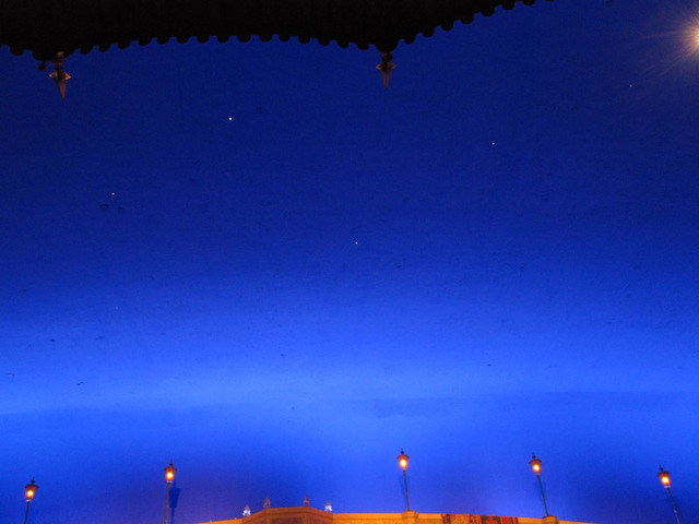 The Atmospheric ceiling with some stars showing