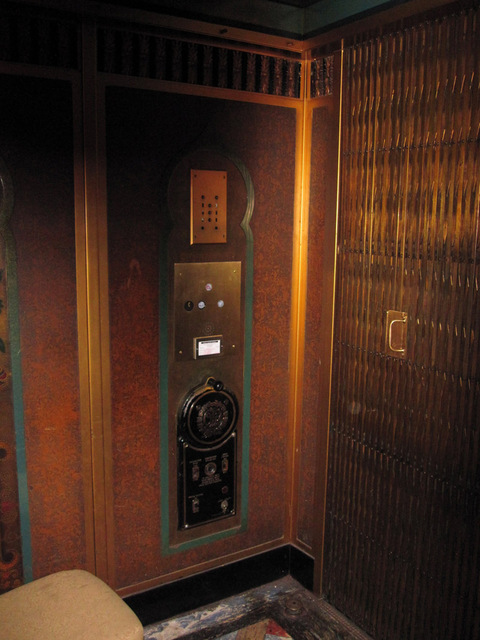 Original 1929 hand-operated elevator