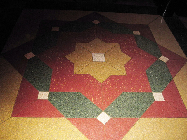 Detail of outer lobby floor