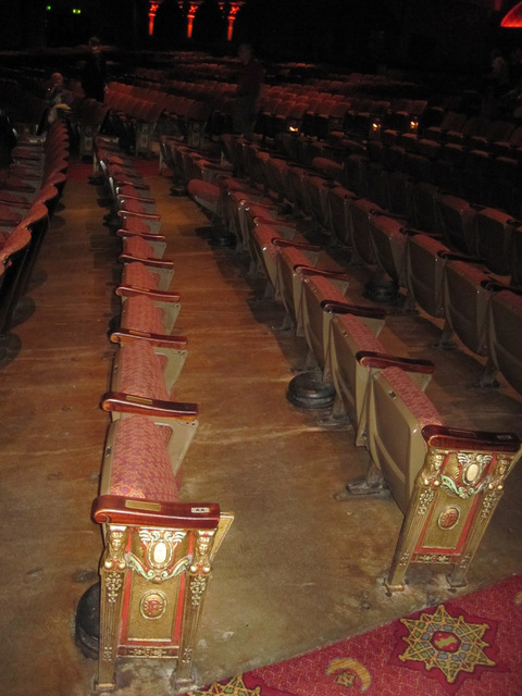 Seats - seatbacks off to be refurbished