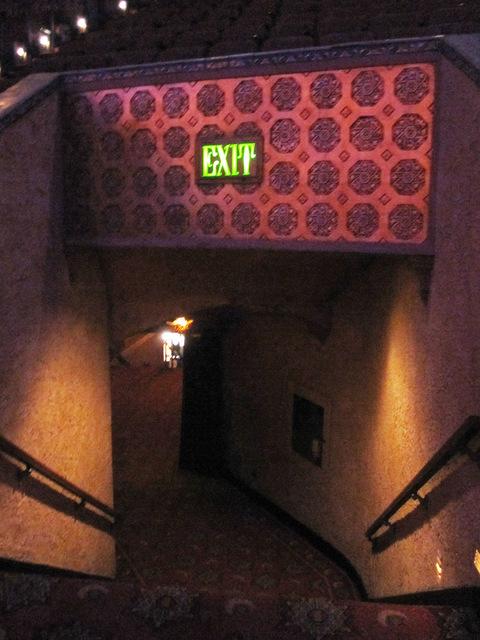 Exit from balcony to mezzanine