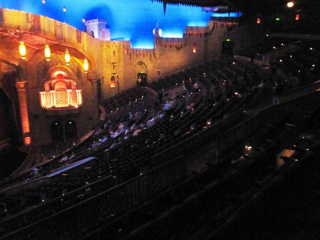 Balcony seats and right organ screen