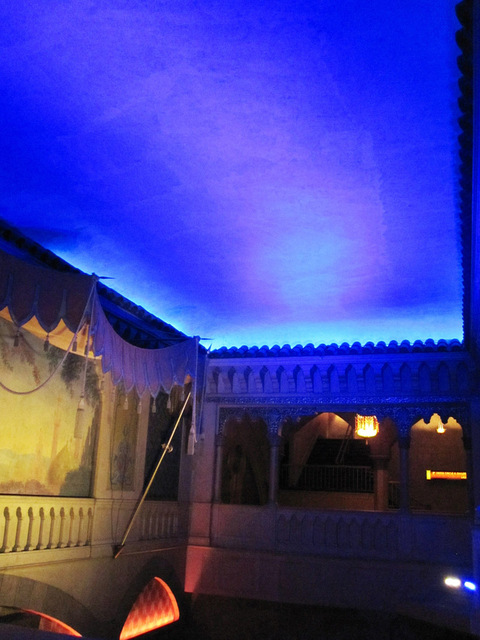 Upper part of south part of main lobby with atmospheric ceiling
