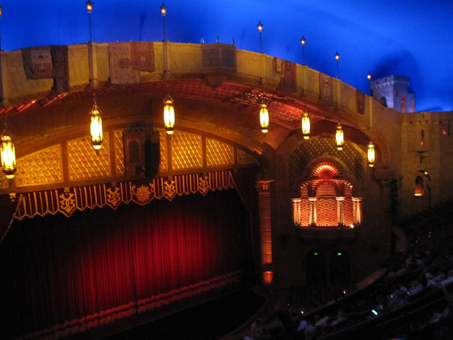 Proscenium and atmospheric ceiling