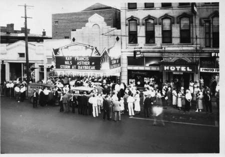 Front of Schine's Wooster Theater in the 1930's