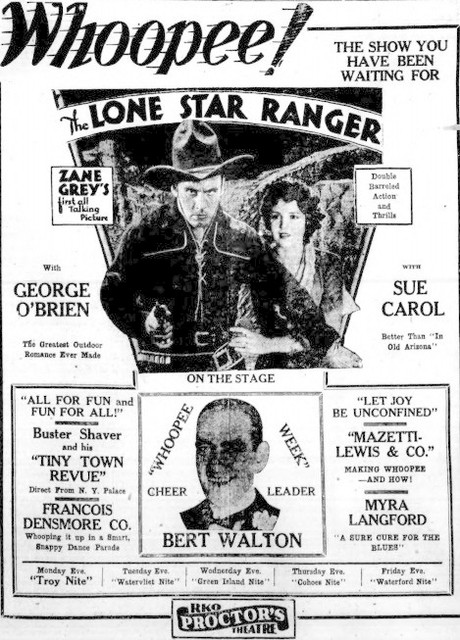 1930 ad - The Lone Star Ranger