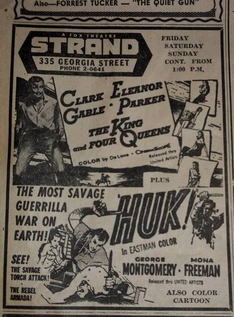 Strand Theatre Advertisment