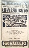 Vallejo Theatre Advertisment