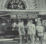in front of the Pickwick Theater, San Diego c1915