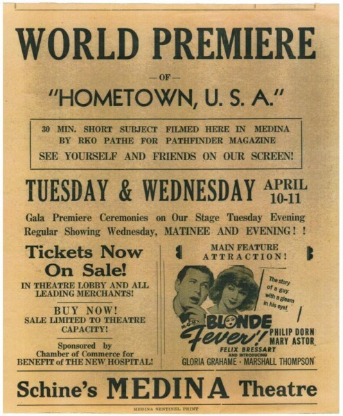 "From the premier of ""Hometown U.S.A."""
