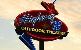 HIGHWAY 18 OUTDOOR Theatre; Jefferson, Wisconsin.
