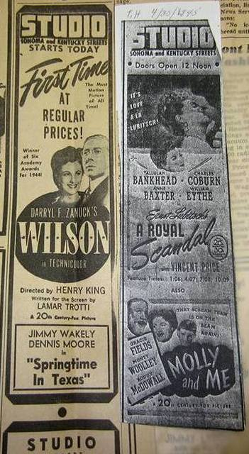 Studio Theatre Advertisment