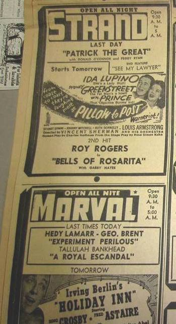 MarVal Theatre Advertisment