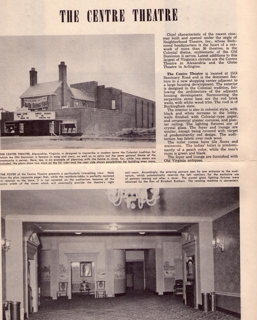 Centre Theatre.  Alexandria, VA