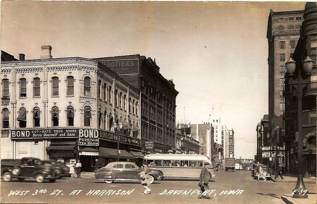 State Theatre on the right in this 1946 image.