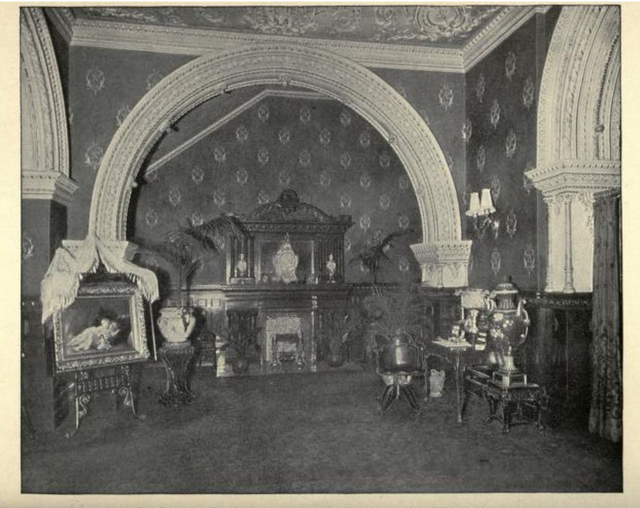 B F Keith's Theatre Boston 1895 - Corner of Grand Reception Room