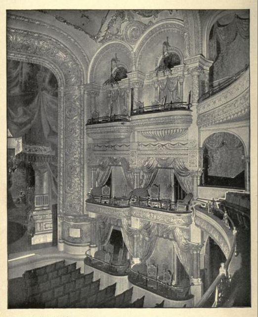 B. F. Keith's Theatre Boston 1895 - Section of Proscenium and Private Boxes