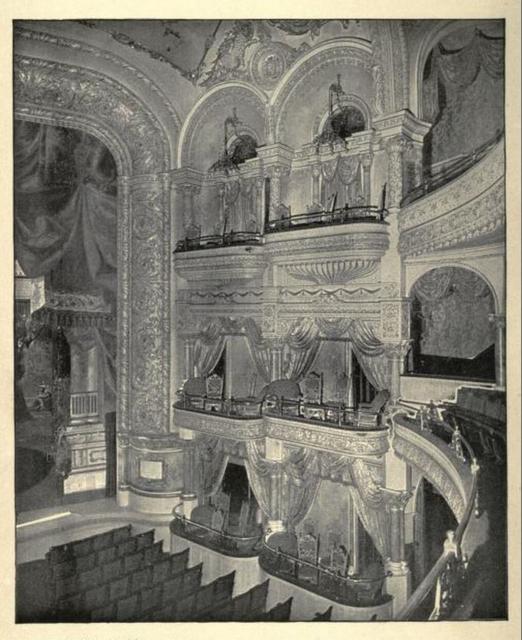 B. F. Keith's Theatre Boston 1895 - Section of Proscenium and Private Boxes