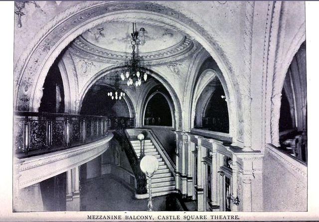Castle Square Theatre, Boston 1895 - Mezzanine Balcony