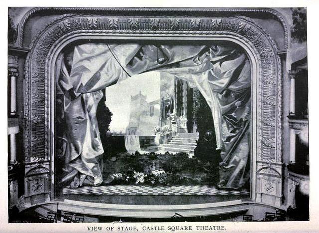 Castle Square Theatre Boston 1895 - Proscenium Arch and Stage