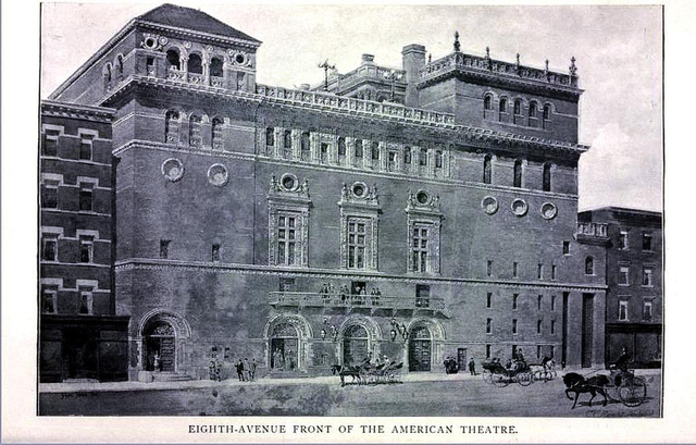 American Theatre, New York 1895 - Opened in 1893 on the corner of 8th Avenue and West 42nd Street