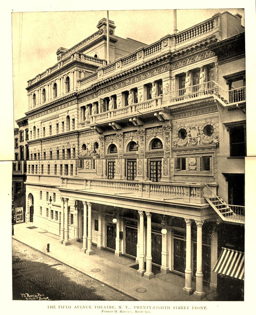 Fifth Avenue Theatre New York 1895 - 28th Street Front