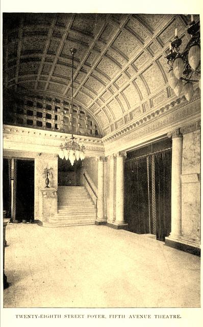 Fifth Avenue Theatre New York 1895 - Foyer