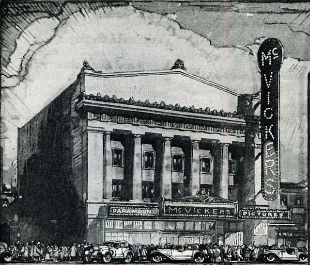 McVickers Theatre, 25 W. Madison Street, Chicago IL in 1923 (demolished in 1985)
