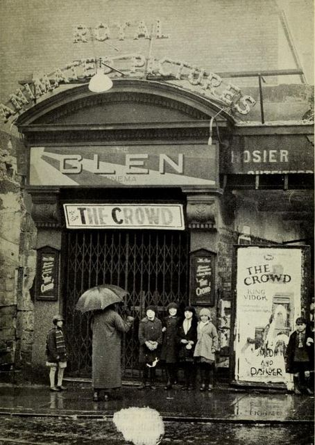 The Glen Cinema, Paisley, Scotland ca1929