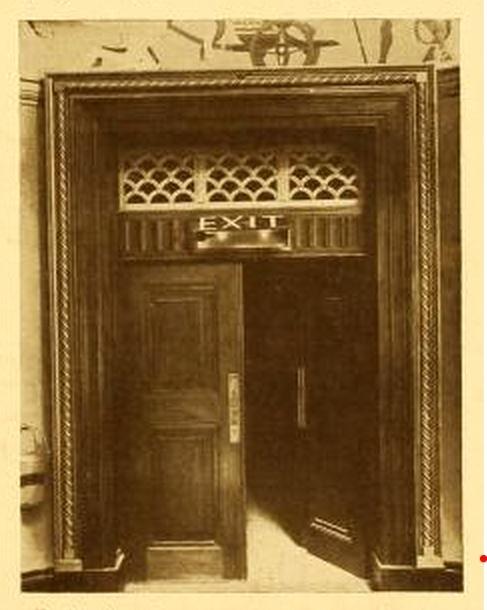 New Gallery Cinema, London 1925 - Exit Door