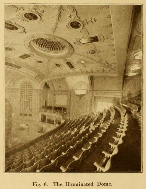 Capitol Theatre, Haymarket, London 1925 - Illuminated Dome