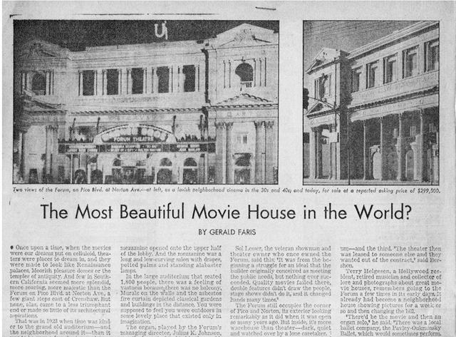 L.A. TIMES Sunday  Calendar 9-30-1972