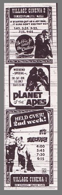 Village Cinema - newspaper ad