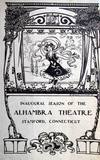 This is the program for the 1909 opening night of the Alhambra Theater.