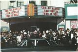 Photo of Oswald's arrest at the Texas Theatre via the Decaying Hollywood Mansions FB page.
