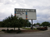 Attraction board for the old Cinema 10 in Flint MI